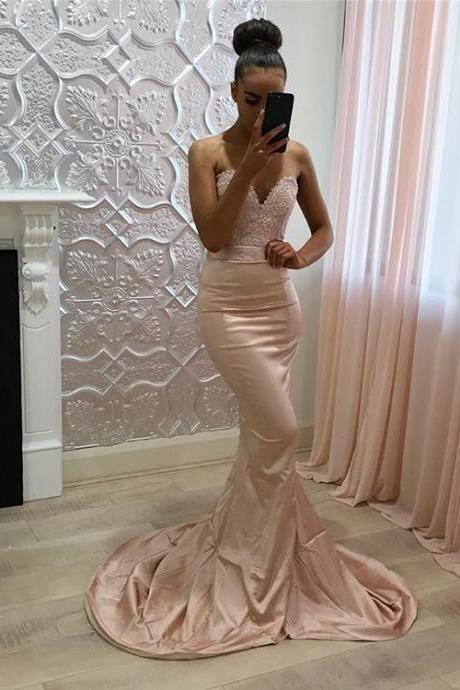 African Prom Dresses Mermaid 2018 Sweetheart Formal Women Evening Gowns