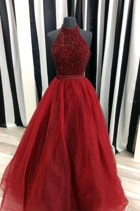 New Arrival Beading Prom Dresses Long 2018 Women Formal Dress Evening Party Gowns