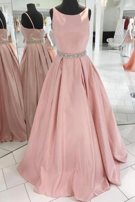 Real Photo Pink Prom Dresses Long 2018 A Line Evening Gowns Women Formal Party Dress