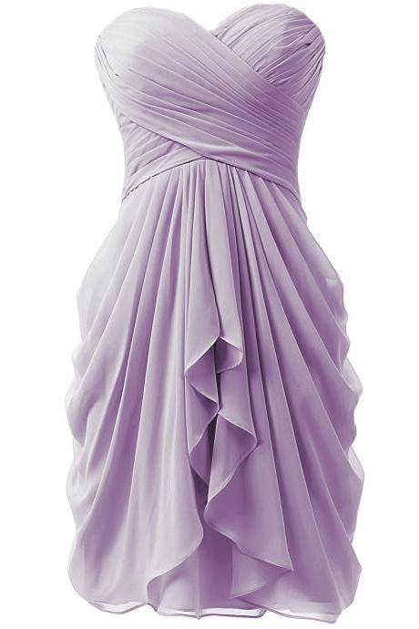 Cheap Sample Short Prom Dresses,Sweetheart Bridesmaid Dress,Short Homcecoming Dresses