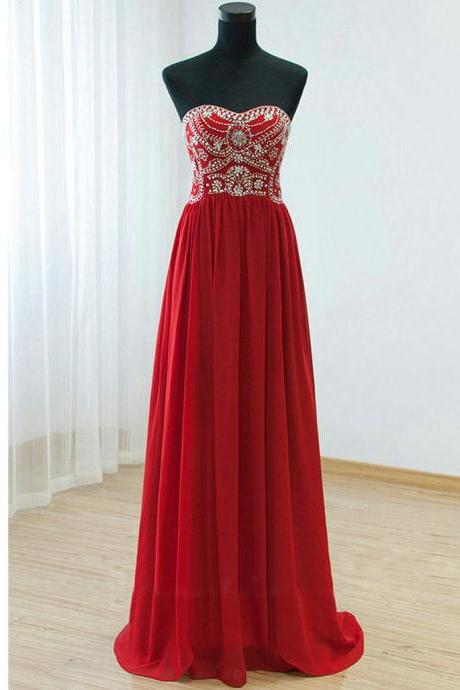 2017 High Quality Red Dresses,Red Sweetheart Prom Dresses,A-Line Off The Shoulder Formal Dresses