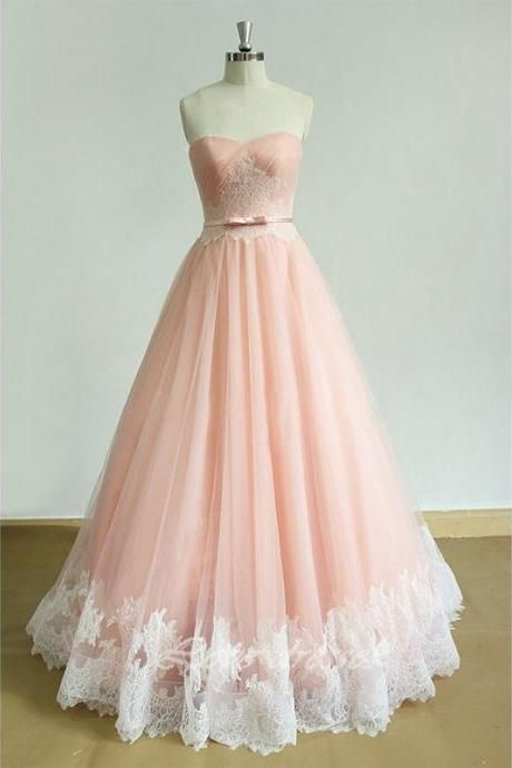 Blush Pink Sweetheart Prom Dresses Long 2017 Modest Real Photos A-Line Imported Party Dress Formal Gowns