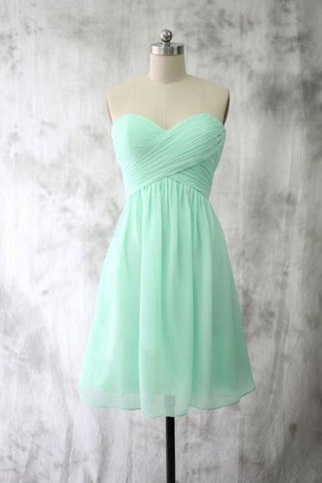 Sweetheart Graduation Dresses,Short Graduation Dress,Mint Green Graduation Dress,Party Dress 2017
