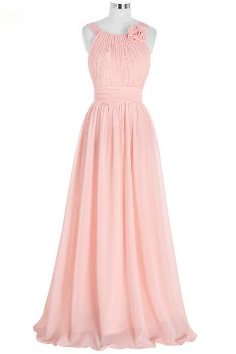 Blush Pink Bridesmaid Dresses,Cheap Bridesmaid Dresses,Wedding Guest Dresses,Maid Of Honor Gowns 2017